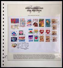USA 24 love stamps on 1 FDC Valentine's Day Texas 1997 Weltsammlung der Rekorde