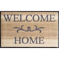 Waschbare Fußmatte - Welcome Home - beige ca 50x75 cm - Wash+Dry Fußabstreifer