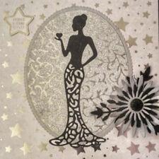DIY Metal cutting lady dress Scrapbook card paper album craft embossing stencils