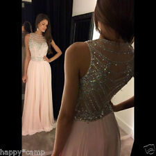 Formal Wedding Evening Dresses Party Cocktail Beaded Pageant Celebrity Prom Gown