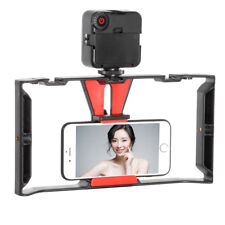Video Camera Cage Handheld Rig + 49-LED Light for iPhone Samsung Smart Phone