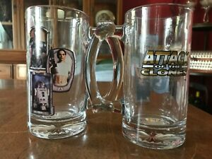 Star Wars Attach of the Clones Glass Stein Cup Set