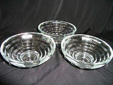 Set of 3 shallow Glass Bowls – ideal for party dips etc – Ref 1185