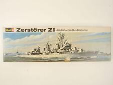 Revell H-305 Zerstörer Z1 Bundesmarine ca. 1/300 tlw. gebaut OVP 1606-11-06