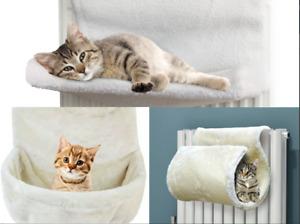 CAT KITTEN HANGING RADIATOR PET BED WARM FLEECE BASKET CRADLE HAMMOCK POUCH