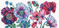 Counted Cross Stitch Kit RTO - Purple Poppies