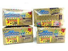 4 Shopkins HAPPY PLACES 3 Petkins 1 Tile Mini Decor Blind Box 4 BOXES Mini TOY