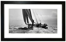 Beken of Cowes Framed Photograph of Sailing Yacht Britannia 1894