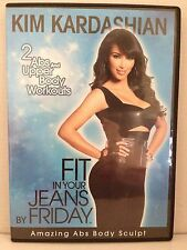 KIM KARDASHIAN~FIT IN YOUR JEANS BY FRIDAY~2 ABS/UPPER BODY WORKOUTS~AS NEW DVD