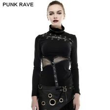 Women  Punk Rock Girls gothic Visual Kei t shirt Steampunk Top Fashion