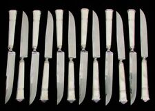 "TIFFANY & CO WINDHAM 12 STERLING SILVER 9"" STEAK KNIVES"