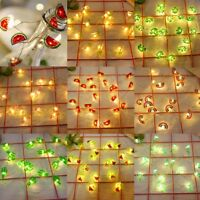 20 LED Cute Flamingo Rainbow Stars String Lights Fairy Battery Childrens Light