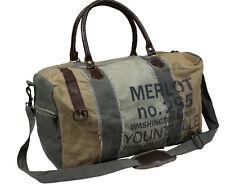 Canvas Tasche Sporttasche Weekender Vintage - Merlot -