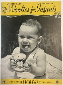 Vintage KNITTING Pattern Booklet No. 153, Woolies for Infants, Baby Clothes etc