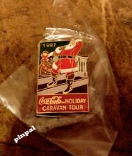Coca Cola Coke Holiday Caravan Tour Pin~Vintage 1997 LE~Santa Clause ~ Christmas