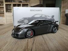 Porsche 911 991 GT3 grau 1:18 Minichamps OVP