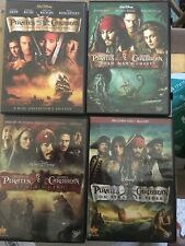 Pirates of The Caribbean 1, 2, 3 & 4 On Stranger Tides Dvd Collection 4 Movies