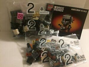 Star Wars Lego The Mandalorian Brick Headz Unopened Loose Set