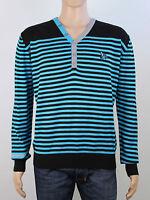 Henleys mens size 4 large xl black light knit v neck jumper