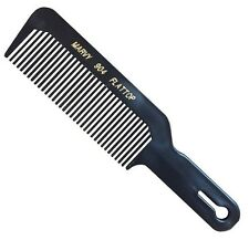Marvy Flat Top Barber's Hair Clipper Cutting Comb 904 (Black)