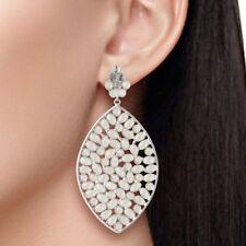 CZ 925 Sterling Silver Drop Dangle Earring Gemstone Jewelry