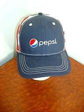 Pepsi Logo baseball Hat Truckers Cap Paramount  Apparel Mesh Adj Strap back