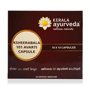 Kerala Ayurveda Ksheerabala 101 Avarti 100 Capsules   Ayurveda   Free Shipping