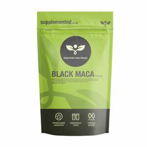 Black Maca 1000mg 180 Tablets Vegan Peruvian Ginseng Libido Energy Sex Drive
