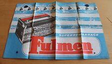 ancienne  publicité batterie fulmen ( europa publition produit lavable ) an 1960