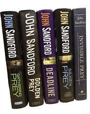 Lot of 5 John Sanford PREY Books Golden Prey Silken Prey Invisible Prey Gatherin