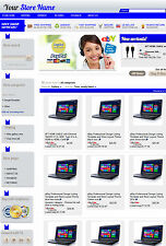 eBay Professional Design Listing Template and Store Layout Theme blue