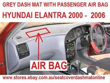 DASH MAT,DASHMAT,DASHBOARD COVER FIT HYUNDAI ELANTRA 2000 -2006,GREY,AIR BAG P/S