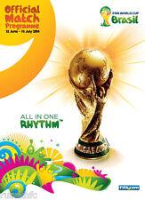 2014 WORLD CUP OFFICIAL TOURNAMENT PROGRAMME (BRAZIL)