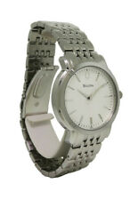 Bulova 96A150 Men's Round Metallic White Round Analog Stainless Steel Watch