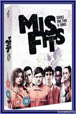 MISFITS - COMPLETE SERIES 1, 2 & 3 *BRAND NEW & SEALED DVD BOXSET**