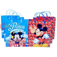 Disney Mickey Mouse 6pc Party Gift Bag Set Plastic Reusable Gag -Prince Charming