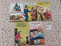 Lot of 5 Funny Novelty Risque ADULT Unused Bamforth Postcards #11