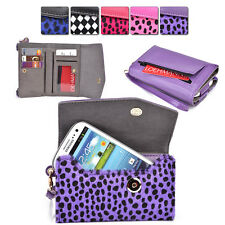 Furry Spotted Wrist-Let Case Clutch Cover & Organizer for Smart-Phones ESMK13