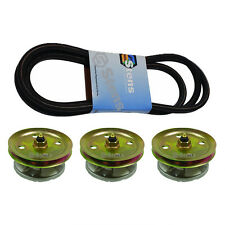 """Lawn Mower Spindle Belt Kit 54"""" Deck John Deere 425 445 455 Lawn Tractors Mowers"""