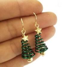 Charm Christmas Tree Earrings Dangle Earring Plating Gold Party Earrings Jewelry