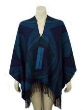 Écharpes et châles poncho bleu pour femme