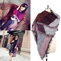 Winter Women's Warm Thick Wool Pashmina Cashmere Stole Scarves Scarf Shawl Wraps