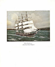 VINTAGE SAILING PRINT ~ PORT JACKSON (1882) WOOL CLIPPER
