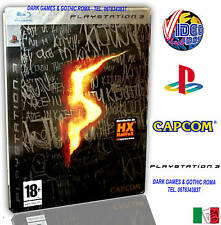 RESIDENT EVIL 5 LIMITED EDITION STEEL BOX SONY PLAYSTATION PS3 VERSIONE ITALIANA