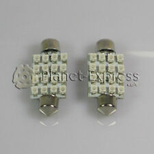 2 x Bombillas 16 LED SMD Verde C5W Festoon 41mm Matricula, interior lectura 42mm