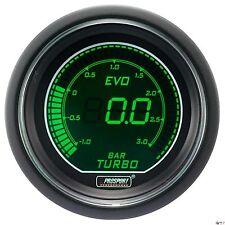 PROSPORT 52mm EVO Series Digital Green / White Led Boost Gauge BAR