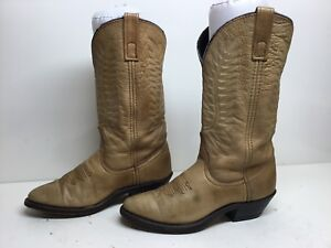VTG WOMENS LAREDO COWBOY LEATHER BROWN BOOTS SIZE 5 M