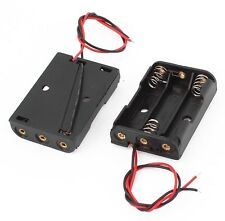 1PCS Plastic Battery Storage Case Box Holder For 3 X AA 3xAA 4.5V with wire lead