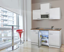 Miniküche Küche Singleküche Küchenzeile Einbau Küchenblock 150 cm weiß respekta