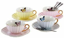 Jusalpha® Elegant Tea Cup with Saucer and Spoon Set- 4 Color
